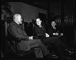 Dubois [sic?], Logan & E. Franklin Frazier, 1947 [cellulose acetate photonegative]
