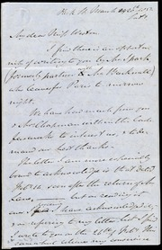 Incomplete letter to] My dear Miss Weston [manuscript