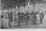 Negro Band of the 814th Infantry leaving the Celtic after her arrival