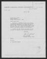 Letter: J. W. Duffield to Gov. Dan K. Moore, July 26, 1968