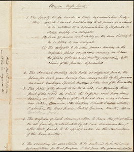 Plan for Union Miss. Society from Amos Augustus Phelps to Lewis Tappan, [1844]