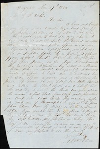 A. J. McElveen, Maysville, Ga. [?], autograph letter signed to Ziba B. Oakes, 29 November 1854