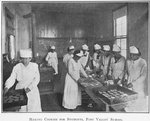 Making cookies for students; Fort Valley School; [Fort Valley, Georgia]