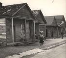Shotgun shacks in an African-American neighborhood in Mobile, Alabama.