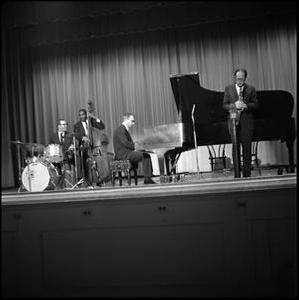 [Dave Brubeck Quartet performing on stage]