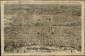 Bird's eye view of Philadelphia