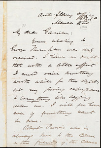 Letter from James Miller M'Kim, Phila[delphia, Pa.], to William Lloyd Garrison, March 2nd [1864]