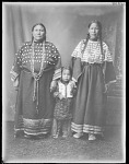 Mrs John Stanton, (right), Cheyenne with Arapaho woman and child. Oklahoma. U.S. Indian school 1904