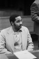 Anthony Ray Hinton sitting in the courtroom during his capital murder trial in Birmingham, Alabama.