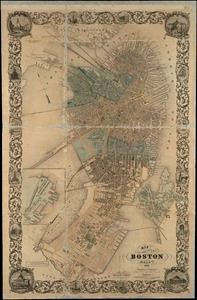 Map of the city of Boston, Massts., 1852
