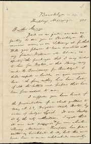 Letter to] Brother George [manuscript
