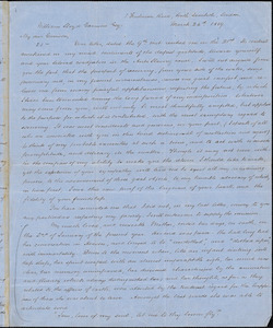 Letter from George Thompson, South Lambeth, London, [England], to William Lloyd Garrison, 1859 March 24th