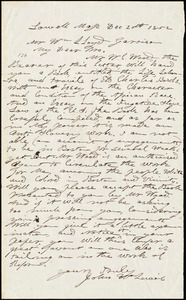 Letter from John W. Lewis, Lowell, Mass., to William Lloyd Garrison, Dec[ember] 20th, 1852