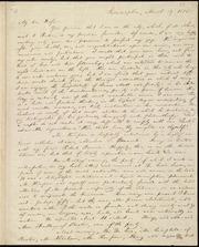 Letter to] My dear Wife [manuscript