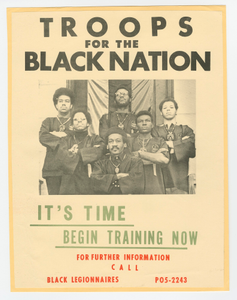 Flier for the Troops for the Black Nation