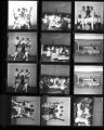 Set of negatives by Clinton Wright including A.T. McCoy's baby, barbeque for Helen Anderson campaign, and Variety Club party at Doolittle, 1968