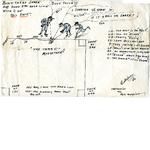 Baseball cartoon sketch, C. Dupree, cartoonist for M.O. Magazine
