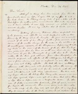 Letter from William Lloyd Garrison, Boston, [Mass.], to Sarah Thurber Benson, Dec. 31, 1836
