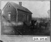 Photograph of first African-American physician's office, DeKalb County, Georgia, 1909