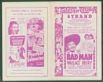 The Bad Man movie program