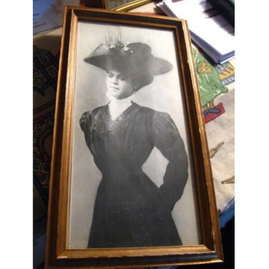 An African-American woman in a hat.