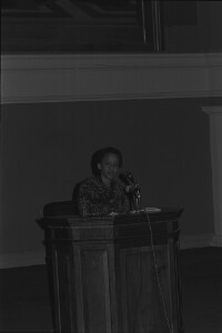 Nikki Giovanni at podium