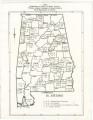 """Breakdown of White & Negro Voters"" in Alabama counties."