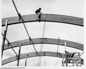 Arch construction of the Negro Recreation Building, now Doris Miller Auditorium, in Rosewood Park