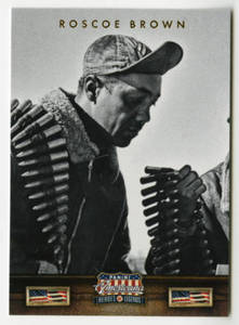 Tuskegee Airmen trading card for Roscoe Brown