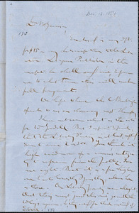 Letter from Gerrit Smith, Peterboro, [New York], to William Lloyd Garrison, 1854 Dec[ember] 18