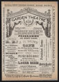Garden Theatre, Various acts (August 22, 1881) Various acts