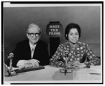 """Photographs from """"Meet the press"""" radio and television programs"""