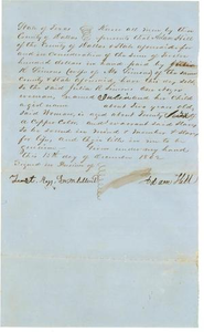 [Bill of Sale to Julia R. Simons from Adam Hill for slave, Julia and her 2 year old daughter]
