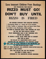 Handbill. Rizzo Must Go!