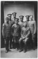 A group of secretaries ready to sail for France. Back row center: J.B. Watson.