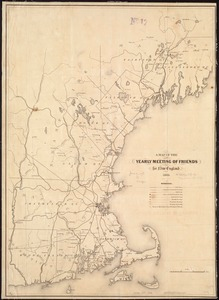 A map of the Yearly Meeting of Friends for New England 1850