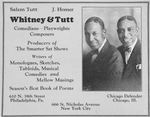 Whitney Comedians ; Playwrights ; Composers. [advertisement]