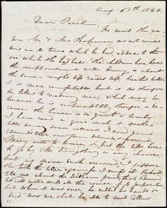 Letter from Maria Weston Chapman, [Boston?, Mass.], to Caroline Weston, Aug. 6th, 1842