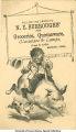 "N.E. Burroughs: Boy riding pig - ""follow the crowd to N.E. Burroughs"""