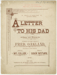 A letter to his dad
