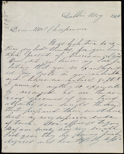 Letter from Annie Allen, Dublin, [Ireland], to Maria Weston Chapman, May 1845