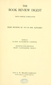 Book review digest, 1913 v.9
