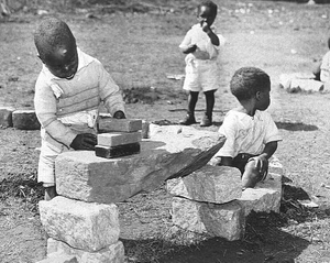 DeKalb County Nursery. African American children playing with