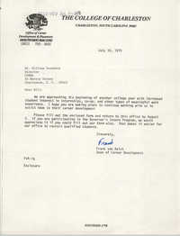 Letter from Frank van Aalst to William Saunders, July 16, 1979