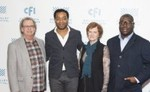 Mark Fishkin, Chiwetel Ejiofor, Zoë Elton, and Steve McQueen, 2013