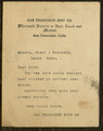 Typescript Letter, To: Messrs. Steer & Brothers From: San Francisco Beef Co., [n.d.].