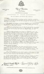 Addendum to Lease Agreement, Gaillard Municipal Auditorium, Charleston Branch of the NAACP, August 1990