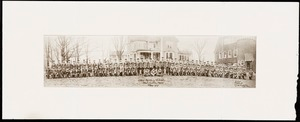 Newton photographs oversize : Allen House : 35 Webster Street / [compiled by the staff of the Newton Free Library]. - Allen House : 35 Webster Street - [Photograph of students of the Allen Military School in uniform, Class of 1919]