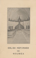 Althea Hurst scrapbook, 1938. Page 87. Christmas church souvenir from Joseph, 1943 Eglise reformee de noumea