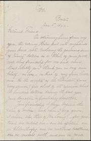 Copy of letter to] Esteemed Friend [manuscript